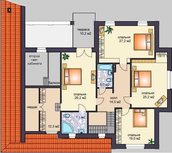 гороскоп сегодня проект коттеджа с 4 спальнями на втором этаже них